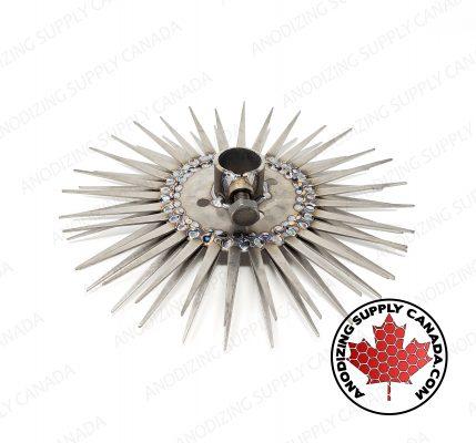 Titanium Disc for Aluminum Anodizing 30 Station Straight Finger