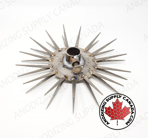 Titanium Disc for Aluminum Anodizing 15 Station Straight Finger