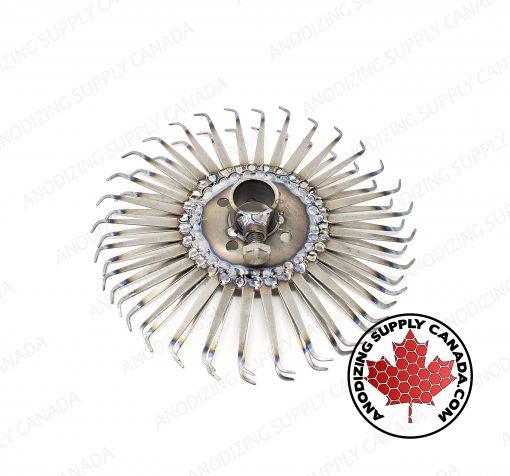 Titanium Disc for Aluminum Anodizing 30 Station Bent Finger
