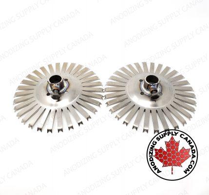 Titanium Disc for Aluminum Anodizing 30 Station Dished Disc Pair