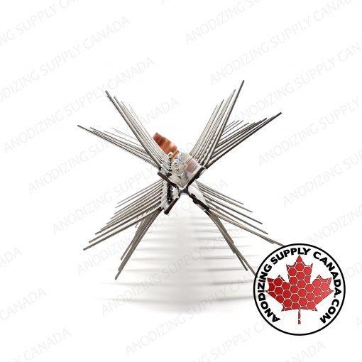 """4-Sided Titanium Rack for Aluminum Anodizing 12"""" Long"""