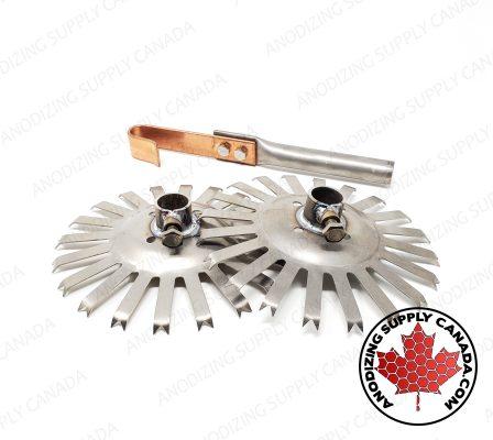 Titanium Disc and Spline Starting Kit for Aluminum Anodizing